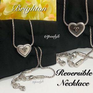 Brighton Necklace Reversible Silver Brown